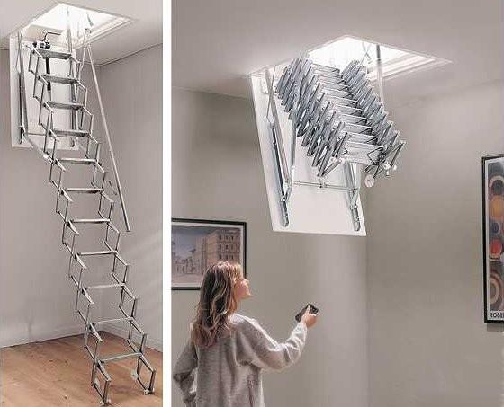 escalier escamotable electrique pas cher