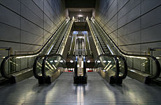 escalier roulant au pluriel