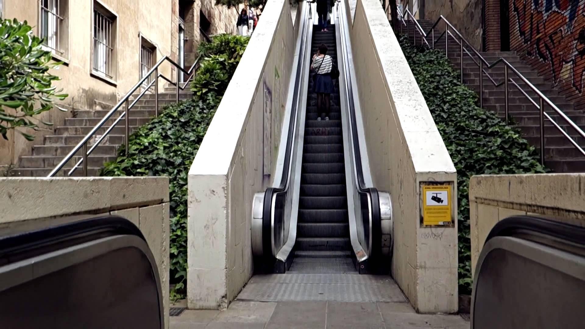 escalier roulant barcelone