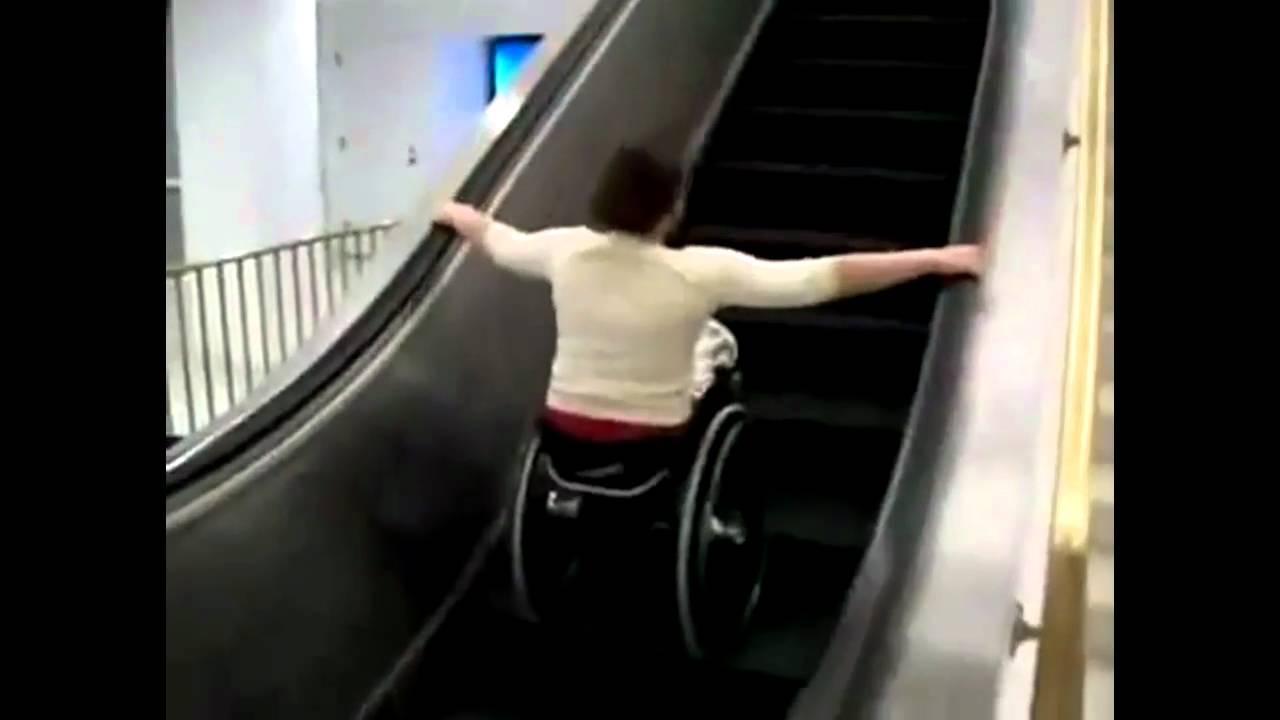 escalier roulant chaise roulante