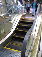 escalier roulant en anglais