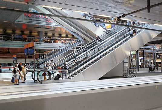 escalier roulant exterieur