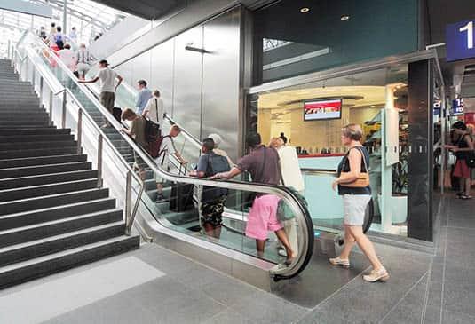 escalier roulant translation