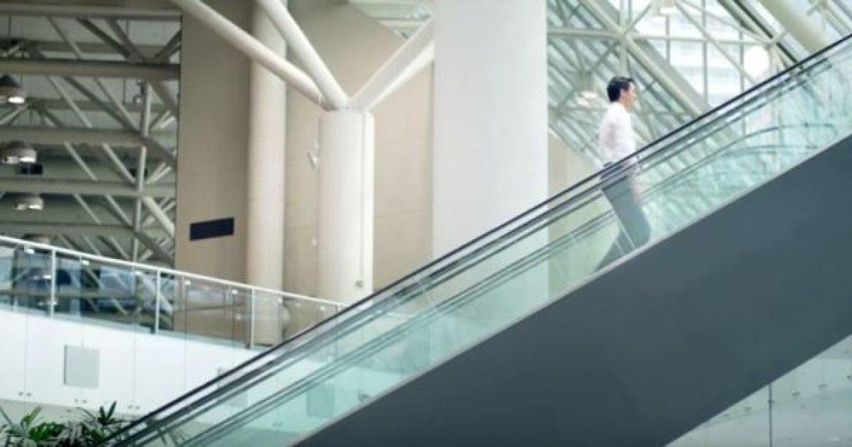 escalier roulant trudeau