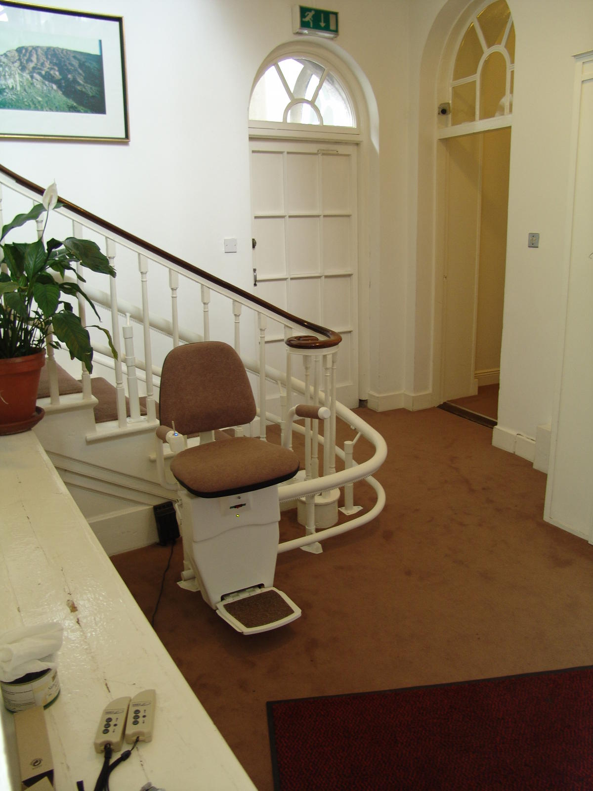 monte escalier 67