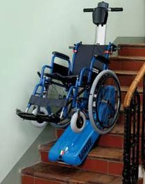 monte escalier chenillette