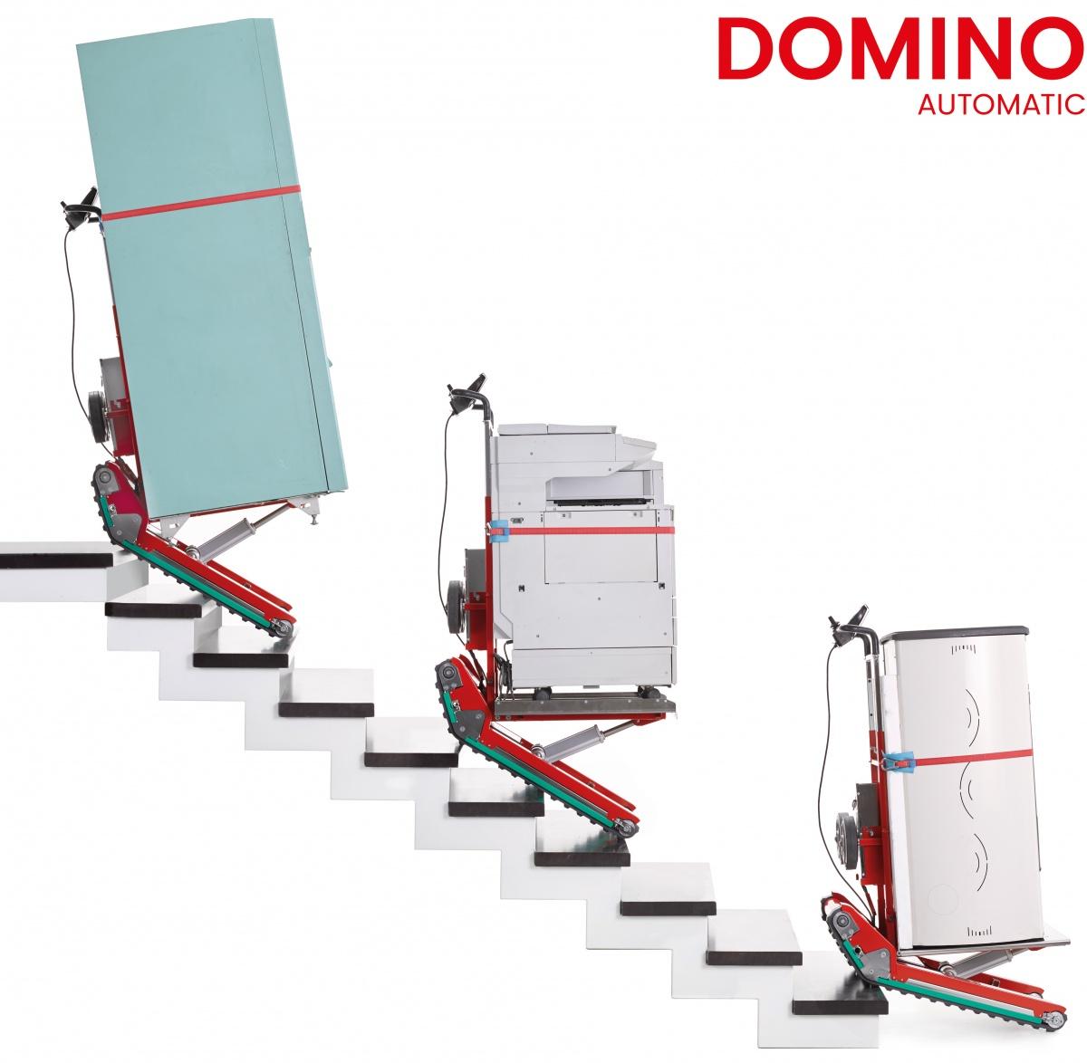monte escalier domino