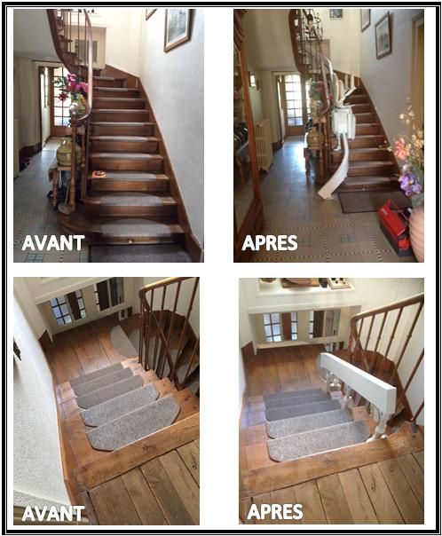 monte escalier limoges