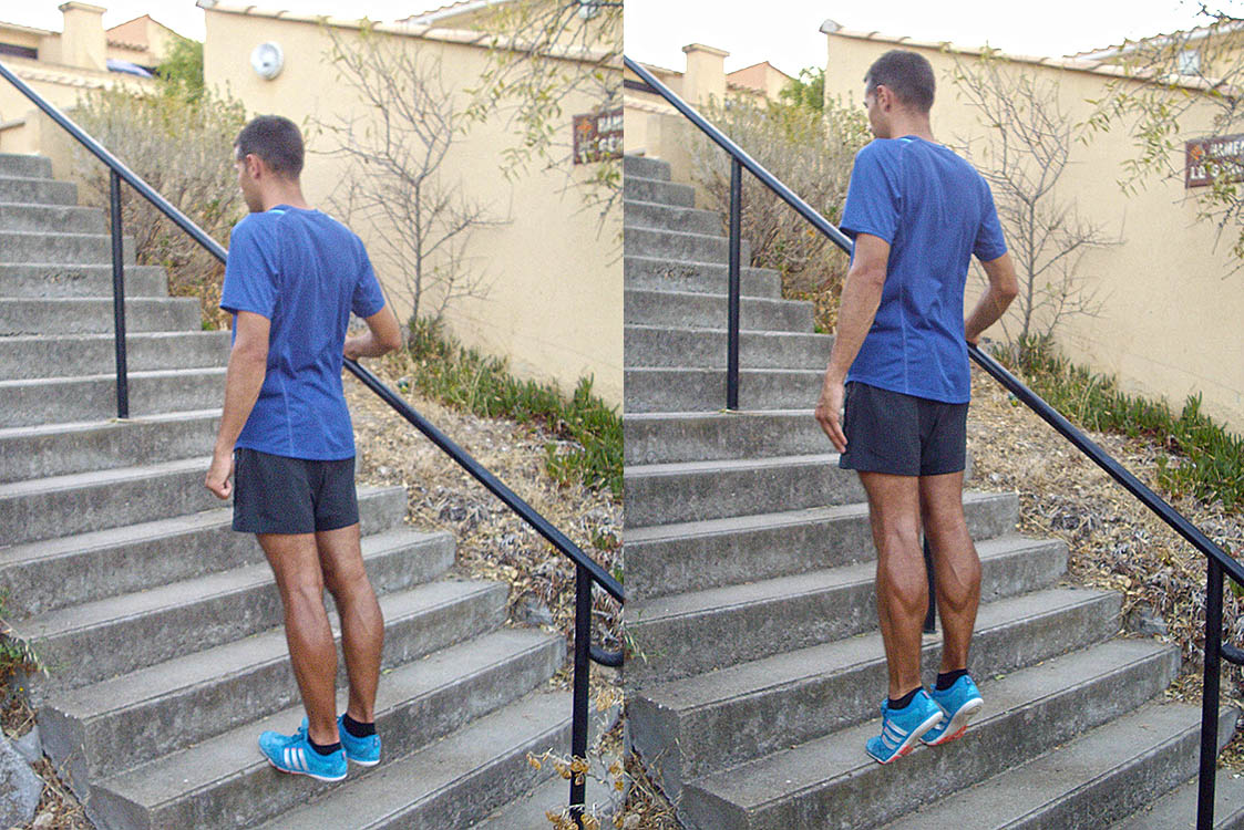 monte escalier musculation