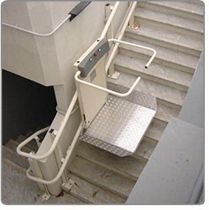 monte escalier plateforme