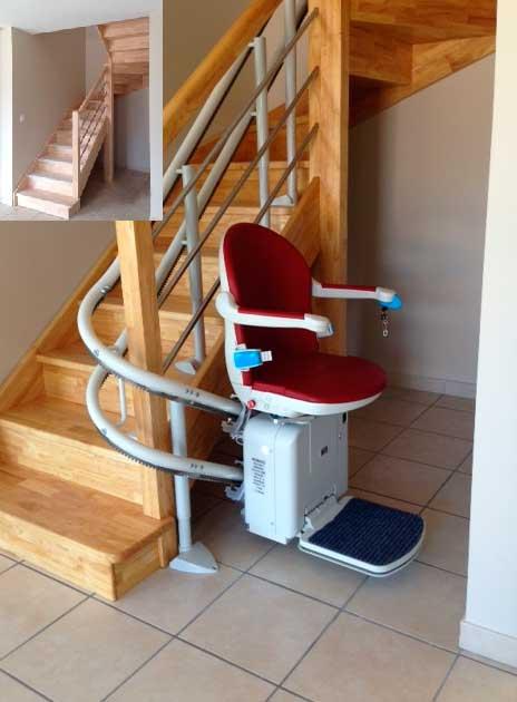 monte escalier rapide