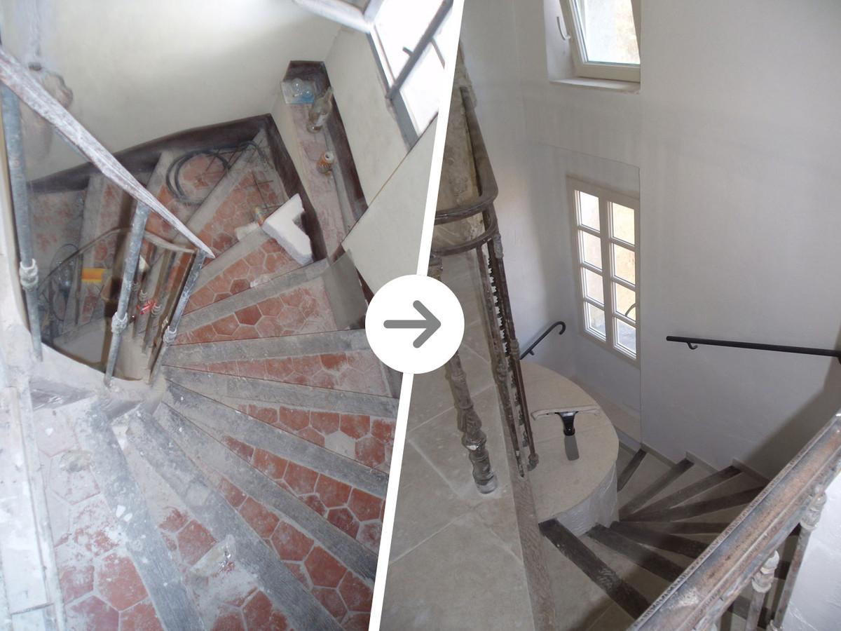 monte escalier saint raphael