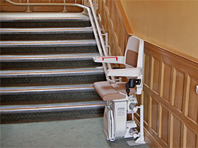 monte escalier var